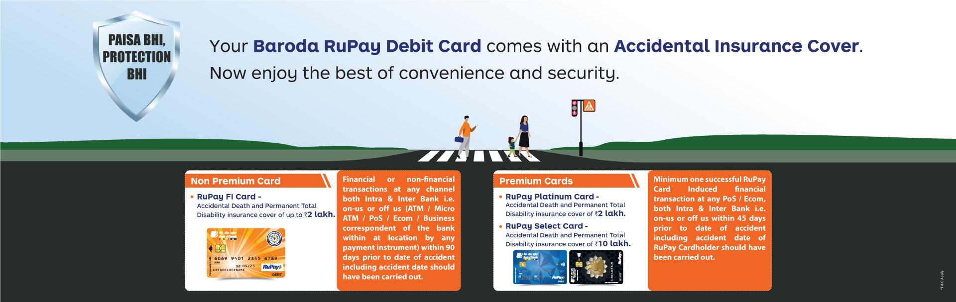 RuPay Debit Card-Accidental Insurance