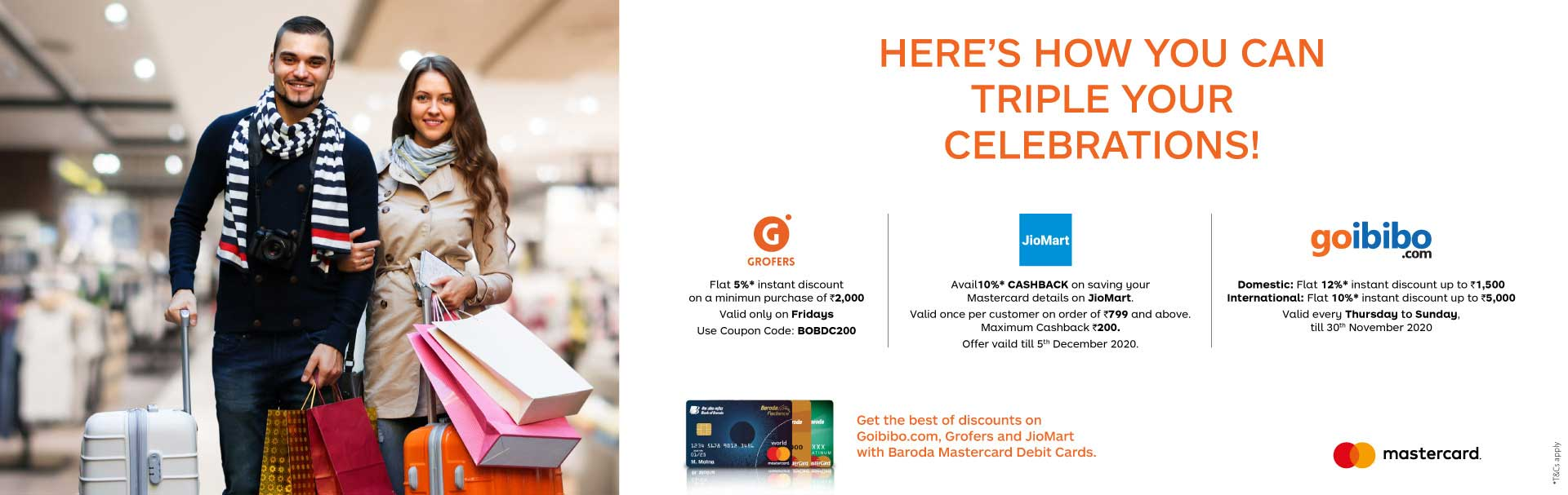 mastercard three offers
