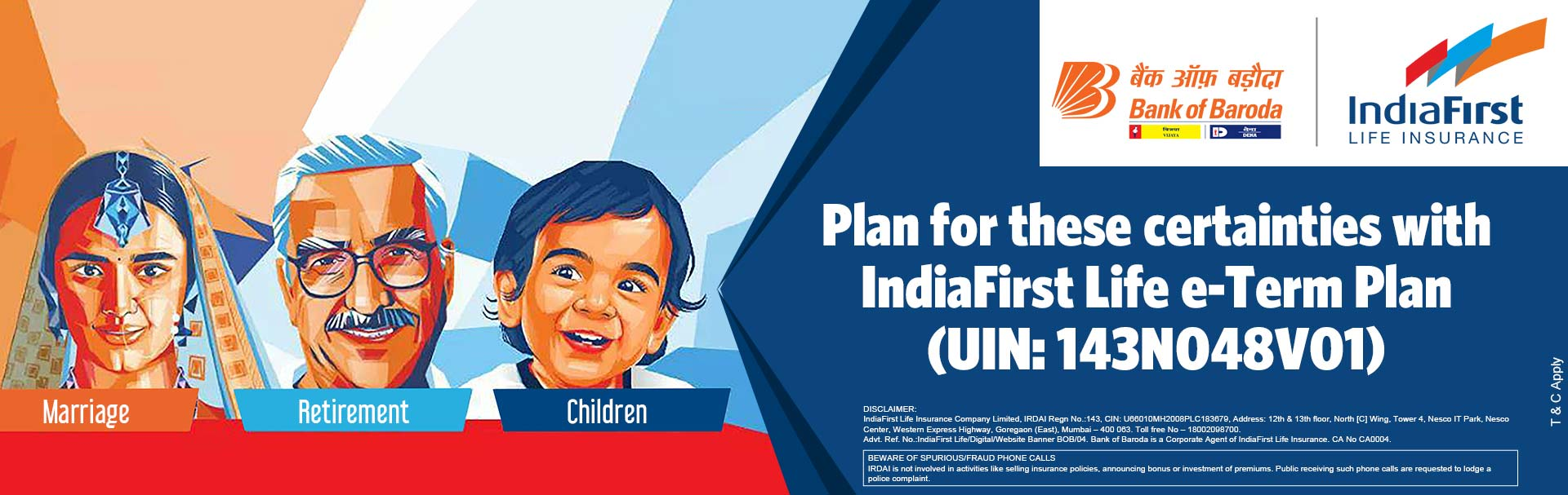 Buy IndiaFirst Life Insurance Policy in India | Bank of Baroda