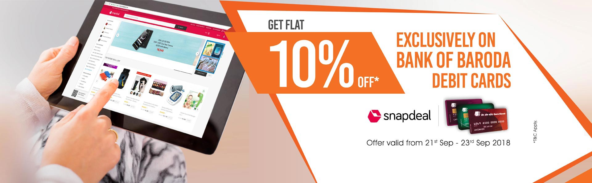 Offer on Bank of Baroda Debit Cards