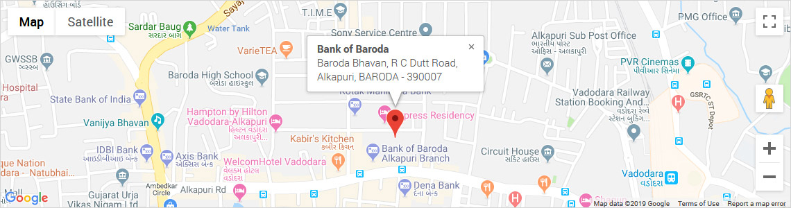 Bank of Baroda, Head office