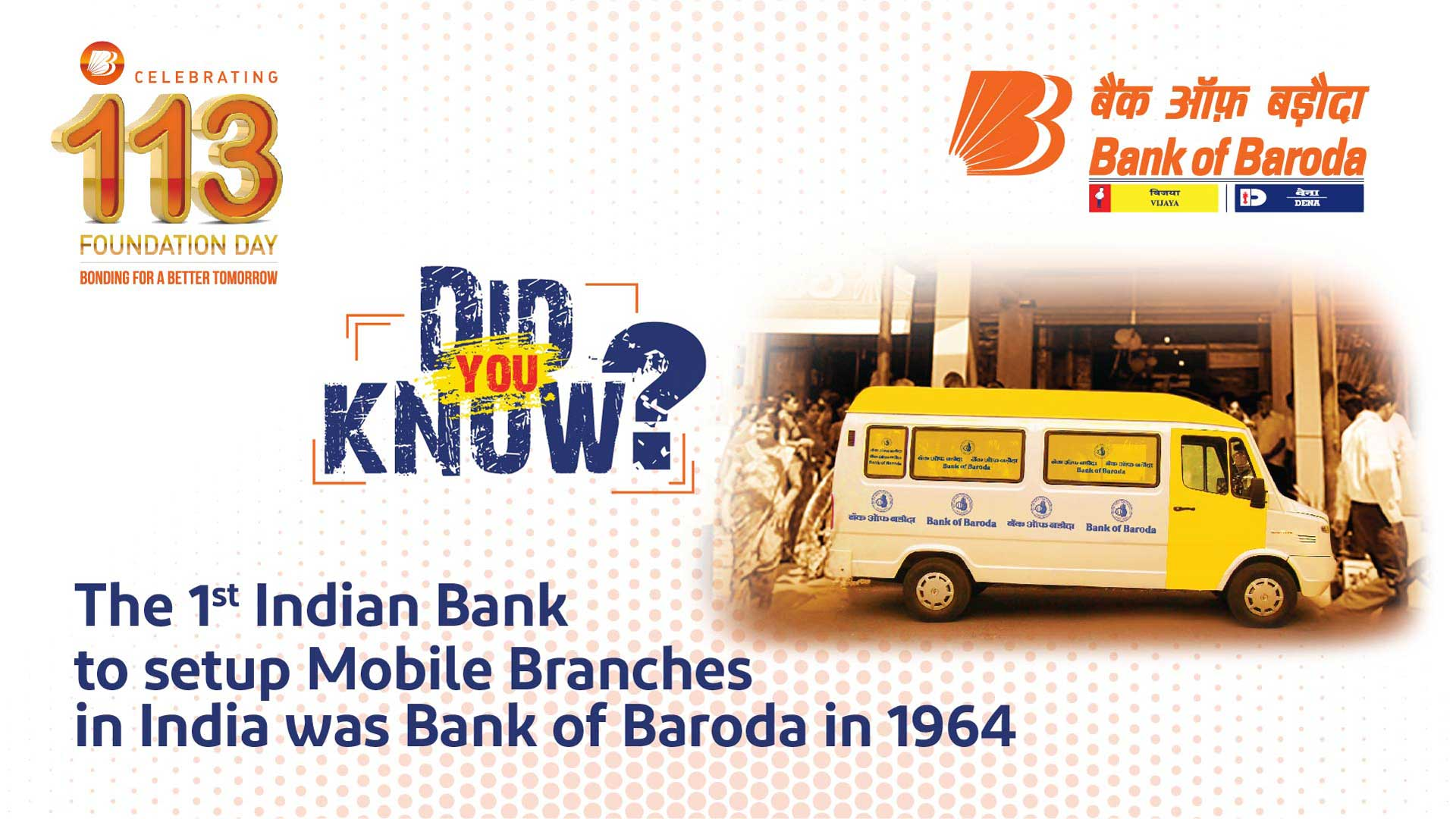 Did You Know? - The 1st Indian Bank to setup Mobile Branches in India in 1964