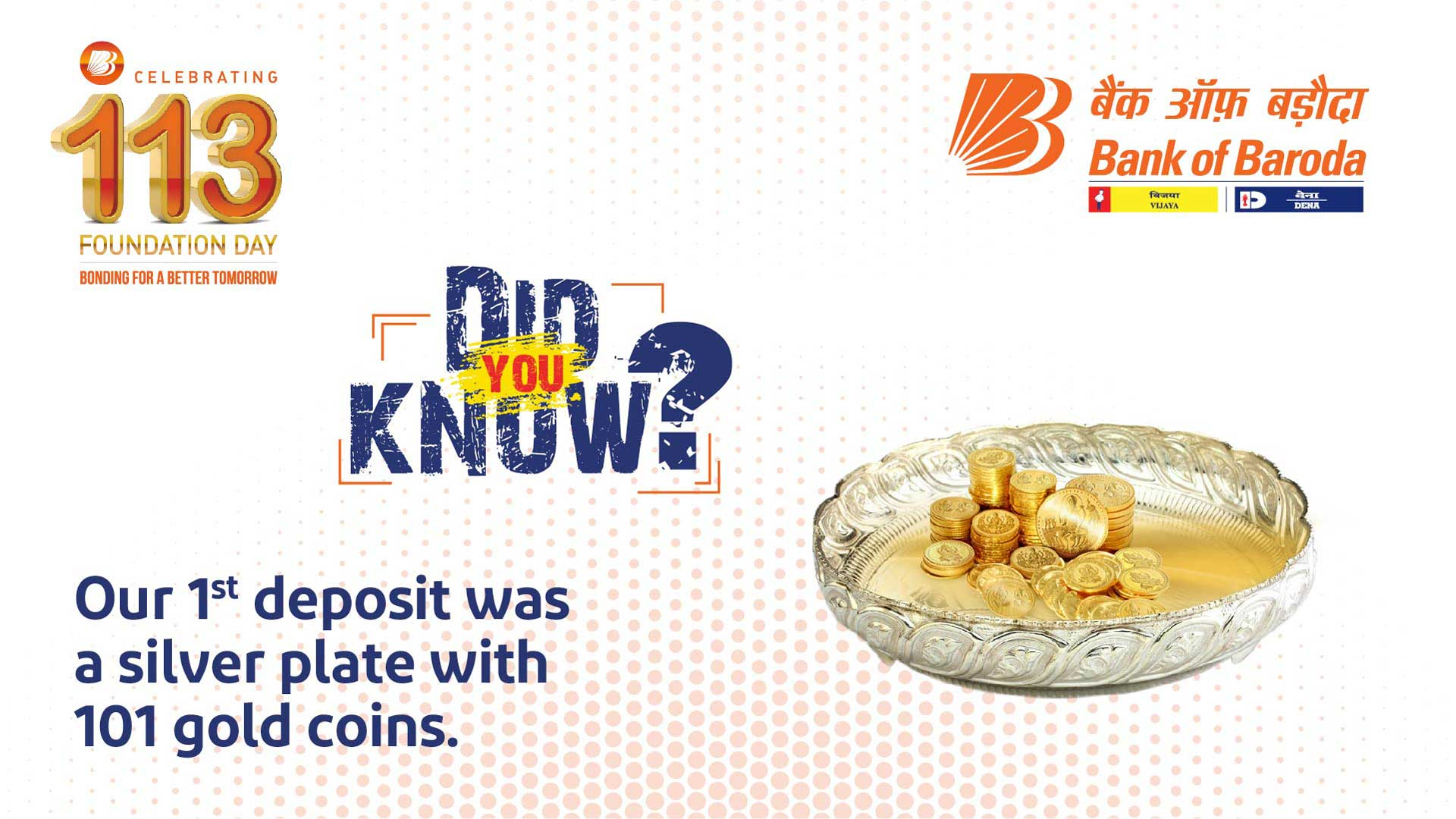 Did You Know? - Our First Deposit was a Silver Plate with 101 Gold Coins