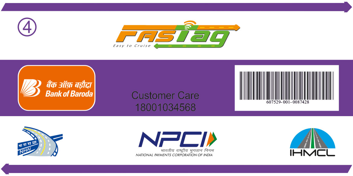 Baroda Fastag - Electronic Toll Collection - Pay Toll Online