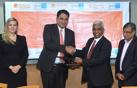"Bank of Baroda tie up with ""Max Bupa"""