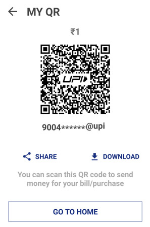 Share the QR code